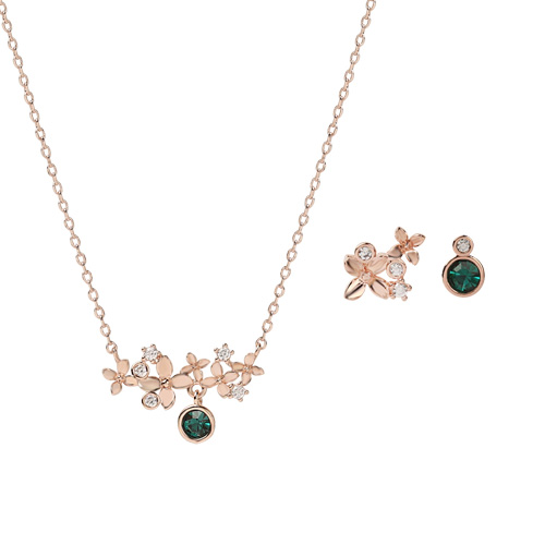 1046748 - <JS60_IG15> [Ships same day] [earrings + necklace birthstone and birthstone set