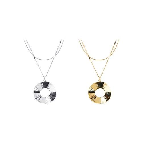 1047434 - <NE524_BB09> [2Piece 1set] Nora round necklace
