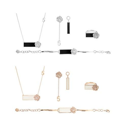 1047443 - <JS315_IE05> [necklace + earrings + bracelet + ring] Rosario Flower set