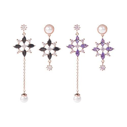 1047444 - <ER1831_DA18> [clip type] Chansong Unbalanced earrings