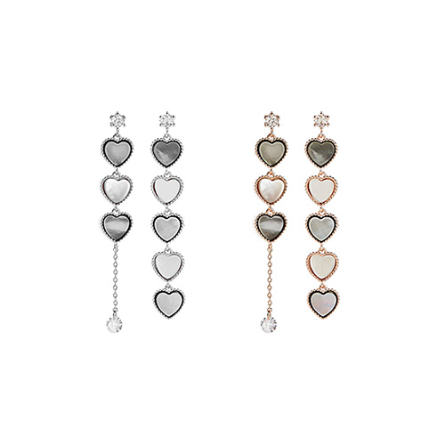 1047446 - <ER1869_DH01> [clip type] heart Fruits earrings