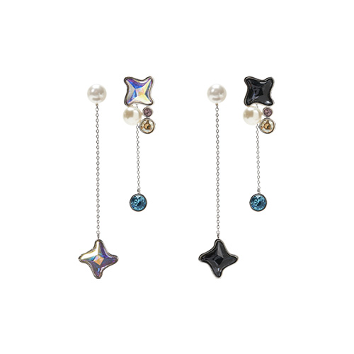 1047465 - [Swarovski] [Silver Post] Hobby More Earrings