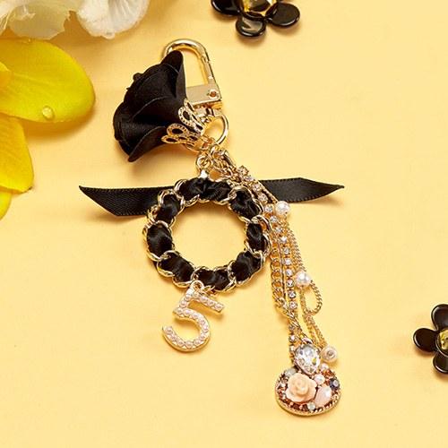 1047490 - [handmade] black fiancee air paddle keyring