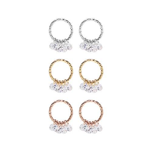 1047506 - <ER1911_DK01> Porch round earrings