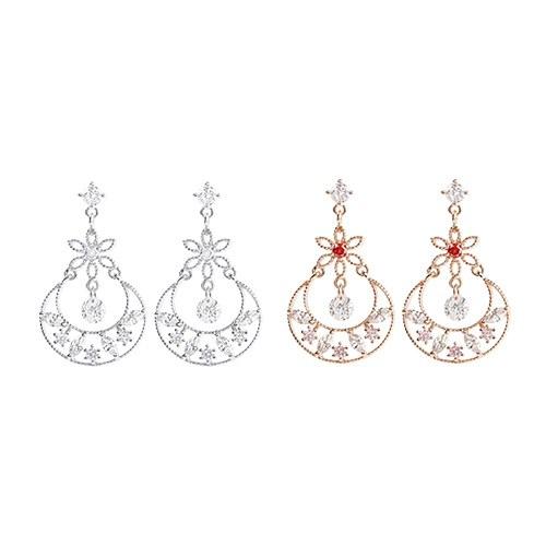1047528 - <ER1889_DG22> [clip type] Lois Flower earrings