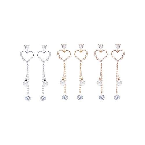 1047531 - <ER1904_DF14> [clip type] yomi heart pearl earrings