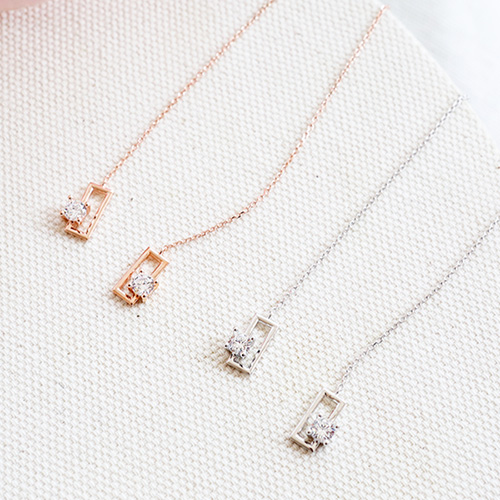 1047544 - <ER1922_DG20> [Silver] Aurian cubic long earrings