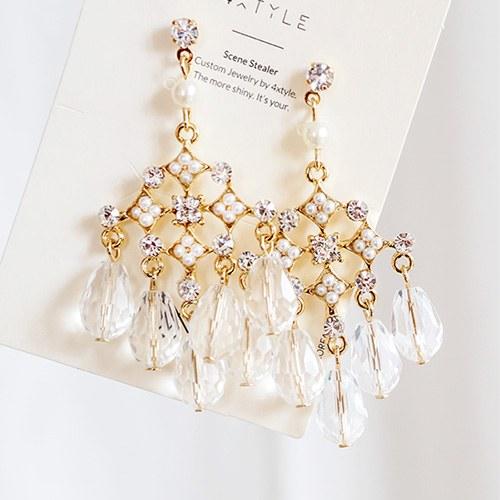1047553 - <ER1919_DD13> [clip type] Beamian chandelier earrings