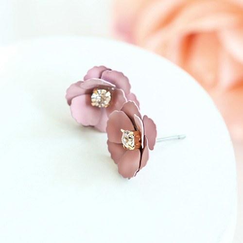 1047556 - <ER1927_DB25> [clip type] Doris Flower earrings