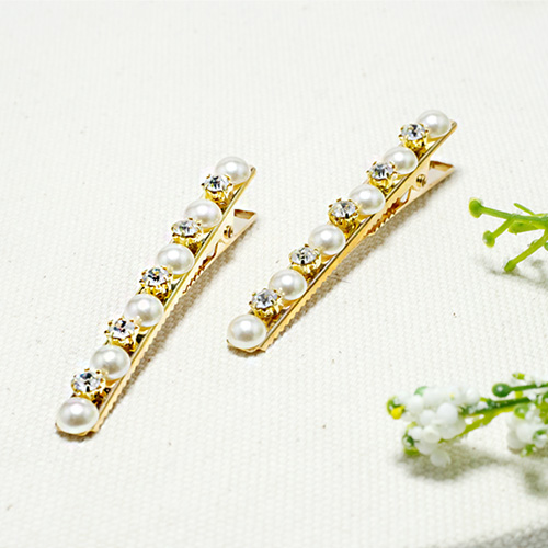 1047572 - <HA660_FE08> [2Piece 1set] melty pearl cubic hairpin