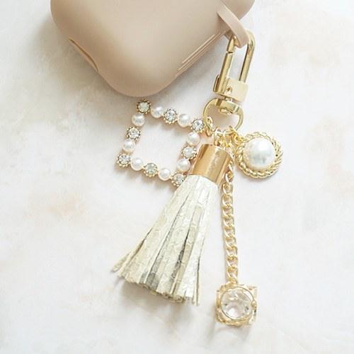 1047583 - <AP0047> [handmade] royal tassel Air Patch Keyring