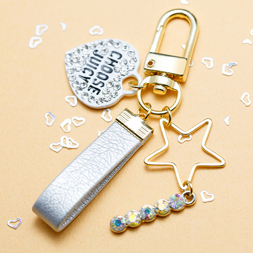 1047584 - <AP0048> [handmade] shining heart star Air Patch Keyring