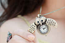 223077 - <NE099-S> Vintage lonely watches necklace
