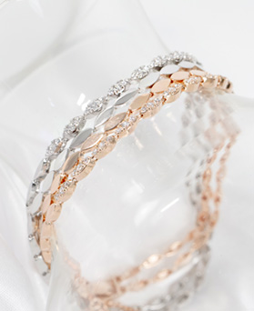 1047620 - <BC756_HC06> Chelsea 2 line bracelet