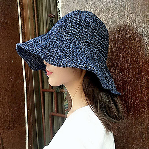 1047638 - <FI134_S> [Sold out] plain straw floppy hat