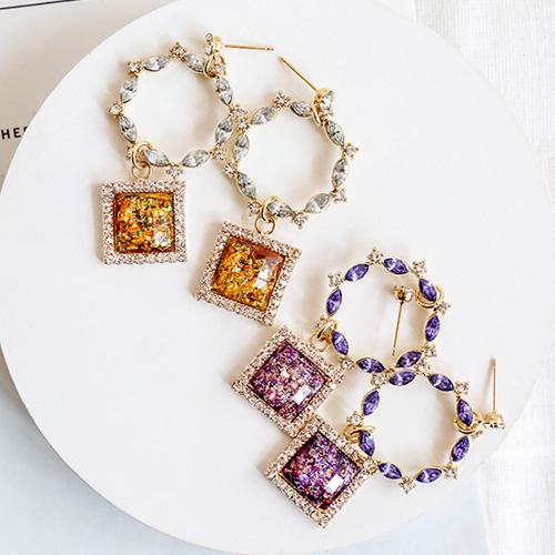 1047640 - <ER1918_DB17> [clip type] Marissa drop earrings
