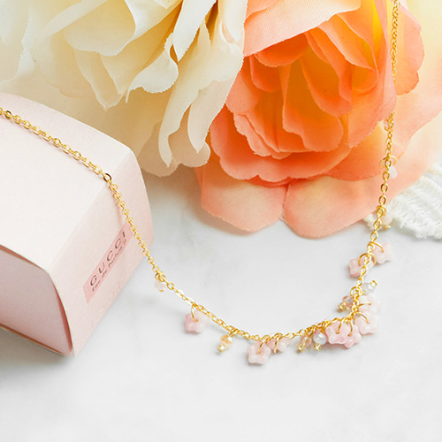 1047663 - <NE530_ID01> [handmade] Cherry Blossom necklace