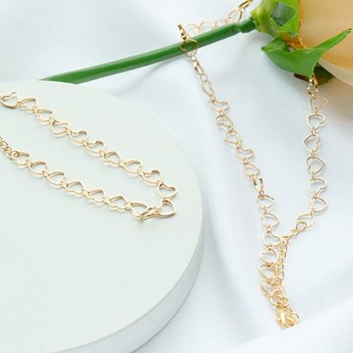 1047689 - <JS322_IC02> [necklace + bracelet] コ ミ heart set