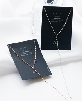 1047708 - <NE538_BF02> [Silver] Bode long chain necklace