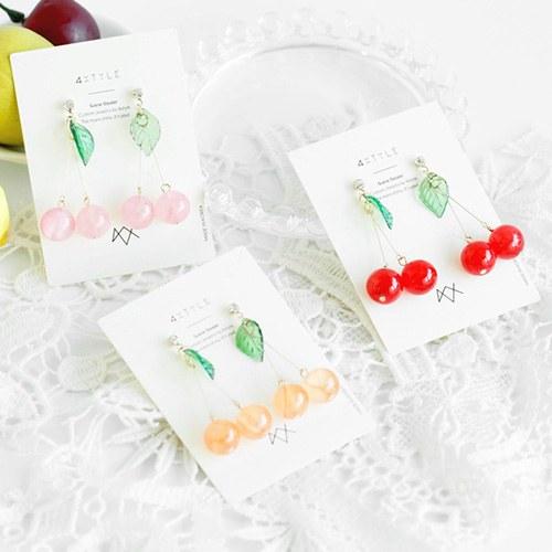 1047711 - <ER1947_CF15> Raleigh Cherry earrings
