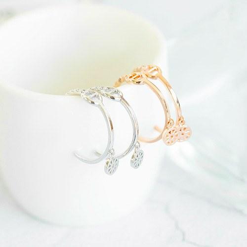 1047728 - <ER1951_DH14> Emerald ring earrings