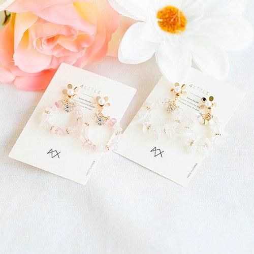 1047748 - <ER1960_CG10> [handmade] Fillet Flower earrings