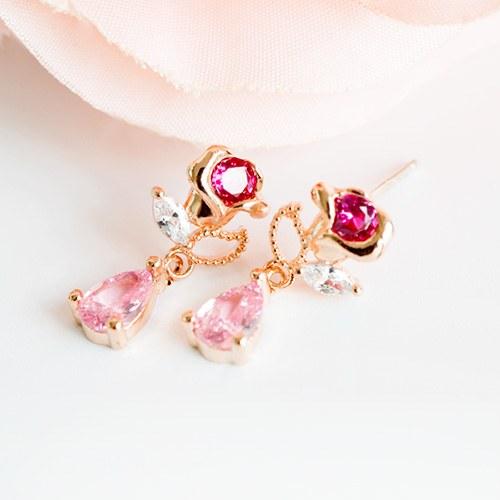 1047751 - <ER1968_IF09> [Silver Post] mari rose earrings