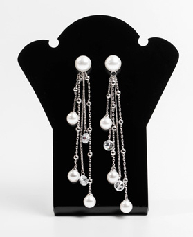 1047776 - <ER1971_CA05> [Silver Post] Dresden pearl drop earrings