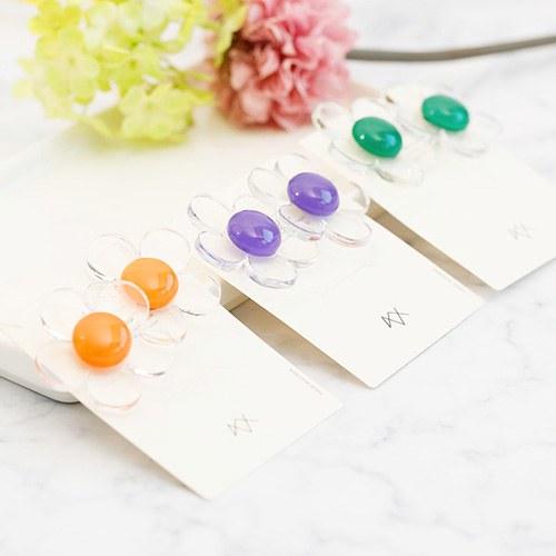 1047817 - <ER1950_CG17> [clip type] clear Flower earrings