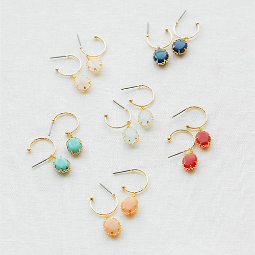 1047819 - <ER1944_IG05> [spring] fine gemstone earrings