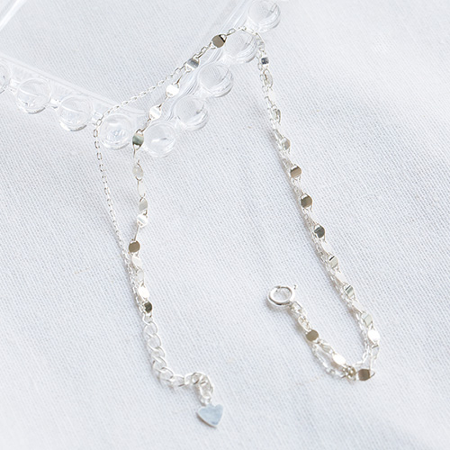 1047822 - <BC773_HG06> [Silver] slim two line anklet