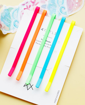 1047824 - <HA675_FF02> [5Piece 1set] Neon Color hairpin