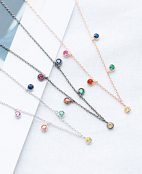 1047825 - <NE541_IF10> rainbow crystal necklace