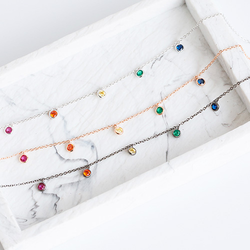 1047826 - <BC771_IF10> rainbow crystal anklet