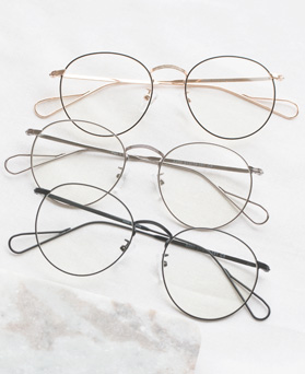 1047834 - <FI141_CA00> slim metal glasses