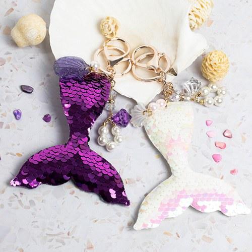 1047849 - <AP0130> [handmade] Spangle Mermaid bag charm key ring
