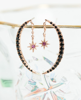 1047856 - <ER1980_DI06> [Silver Post] moon cry earrings