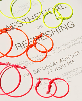 1047857 - <ER1981_CB21> basic Neon ring earrings
