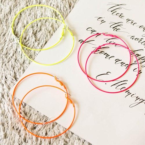 1047857 - <ER1981_CB21> basic Neon ring earrings