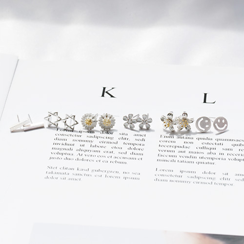 1047887 - <ER1986_CC21> [Silver] daily minimal earrings