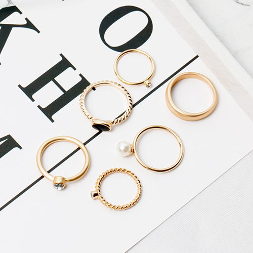 1047893 - <RI844_JC21> [6Piece 1set] antique marey ring