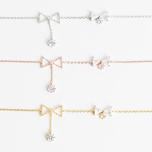 1047929 - <BC774_HA08> Maria ribbon crystal anklet