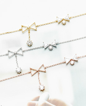 1047929 - <BC774_HA08> Maria ribbon crystal anklet