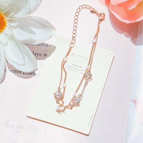 1047963 - <BC777_IH15> Raney pearl chain bracelet