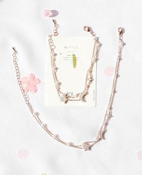 1047975 - <JS330_IA02> [bracelet + anklet] Scarlett pearl set