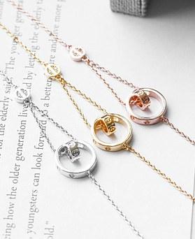 1047996 - <BC780_HB09> Double ring bracelet