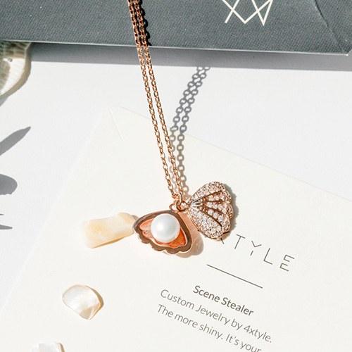 1048039 - <NE544_BA05> Clam pearl necklace