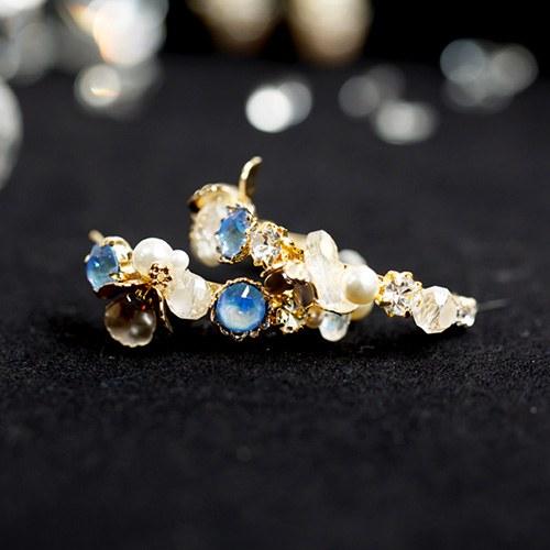 1048046 - <ER2020_CF12> [Handmade] Marble Flower ring earrings