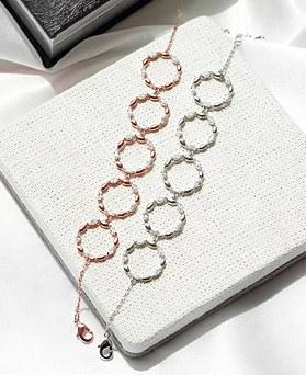 1048056 - <BC782_HG08> L crystal round bracelet