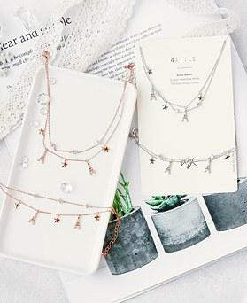 1048067 - <JS332_IC01> [bracelet + anklet] Eiffel star set